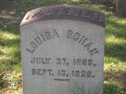 Louisa <I>Bitzer</I> Schan