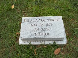 Mary Eulalia <I>Yoe</I> Wright