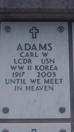 LCDR Carl Warren Adams