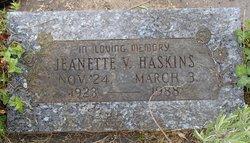 Jeanette Violet <I>Gustafson</I> Haskins