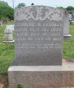 Caroline <I>Brubaker</I> Lehman