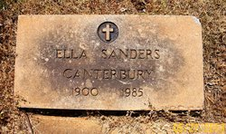 Ella <I>Sanders</I> Canterbury