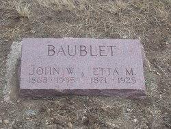 Etta M. <I>Lawrence</I> Baublet