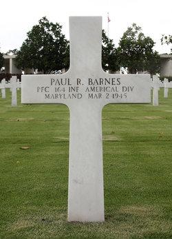 PFC Paul R Barnes