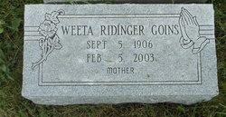 Weeta May <I>Ridinger</I> Goins