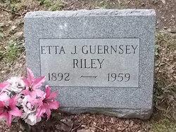 Etta J. <I>Guernsey</I> Riley