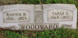 Sarah Ann <I>Burkey</I> Woodward