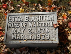 Etta B <I>Wood</I> Ashton