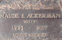 """Maude Elizabeth """"Betty"""" Ackerman"""