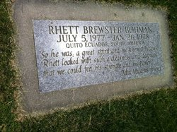 Rhett Brewster Bohman