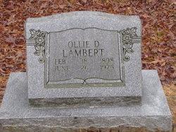 Ollie D Lambert