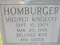 Mildred <I>Kingloff</I> Homburger