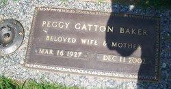 Peggy <I>Gatton</I> Baker