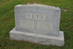 Ollie Louvenia <I>Graves</I> Lett