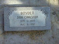 Zina Grace <I>Carlston</I> Boyden
