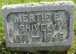 Mertie Eldora <I>Coller</I> Shively