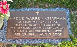 Madge <I>Warren</I> Chapman