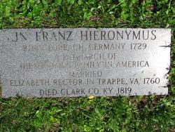 Johann Franz Hieronymus