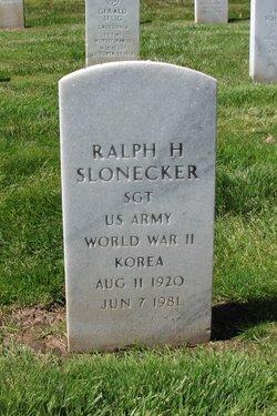Ralph Harry Slonecker