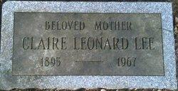 Claire <I>Leonard</I> Lee