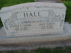 Hannah Elida <I>Crosby</I> Hall