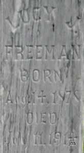 Lucy Jane <I>Newland</I> Freeman