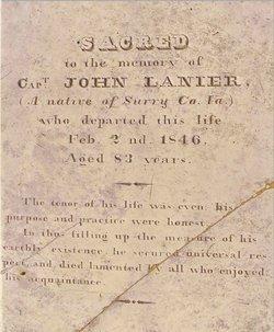 Capt John Lanier