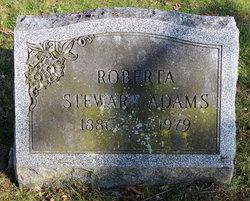 Roberta <I>Stewart</I> Adams