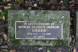 """Muriel Clarice """"Merle"""" Greer"""