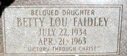 Betty Lou Faidley