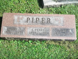 """Harry James """"Curley"""" Piper"""