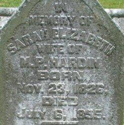 Sarah Elizabeth <I>Pitts</I> Hardin