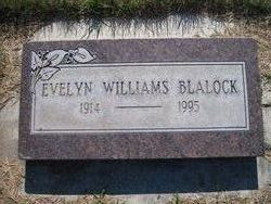 Evelyn Mary <I>Williams</I> Blalock