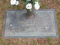 Harold F Ralph