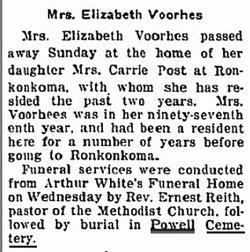 Elizabeth Voorhes