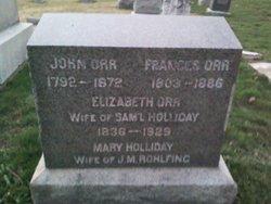 Elizabeth <I>Orr</I> Holliday
