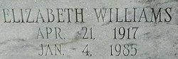 Elizabeth <I>Williams</I> Purvis