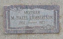 M Hazel Lambertson