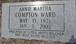 Annie Martha <I>Compton</I> Ward