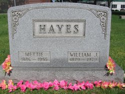 "Mary Etta ""Mettie"" <I>Decker</I> Hayes"