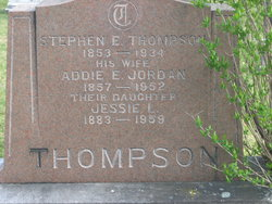 Addie Ella <I>Jordan</I> Thompson