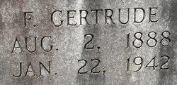 F Gertrude Bearden