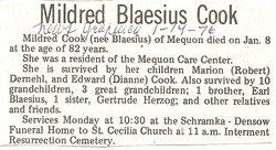 Mildred <I>Blaesius</I> Cook