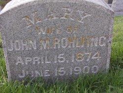 Mary F <I>Holliday</I> Rohlfing