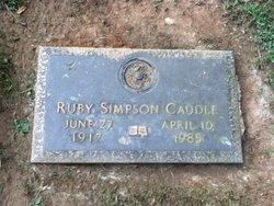 Gertrude Ruby <I>Simpson</I> Caudle