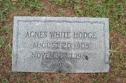 Agnes Lenora <I>White</I> Hodge