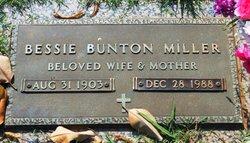Bessie <I>Bunton</I> Miller