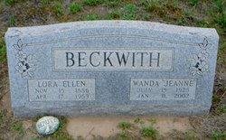 Lora Ellen <I>Hendrix</I> Beckwith
