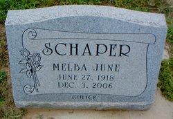 Melba June <I>Gulick</I> Schaper