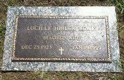 Lucille <I>Hibler</I> Lewis